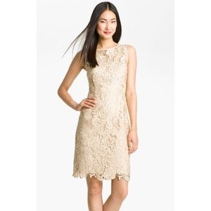 ADRIANNA PAPELL Neck Lace Dress Size 8